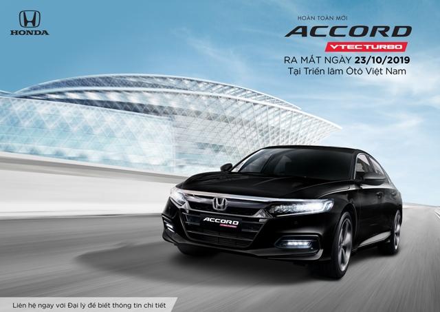 Honda Accord thế hệ thứ 10 ra mắt thị trường Việt Nam từ tháng 10/2019, nhận đặt xe từ 23/09/2019