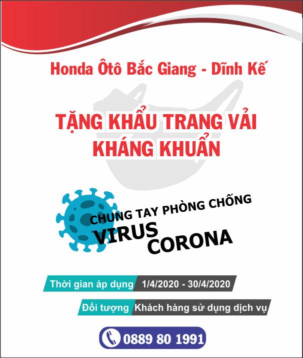 Honda Ôtô Bắc Giang - Dĩnh Kế chung tay đẩy lùi Covid-19