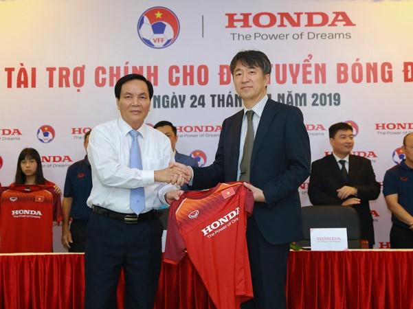 Honda tài trợ các đội tuyển quốc gia Việt Nam trong ba năm