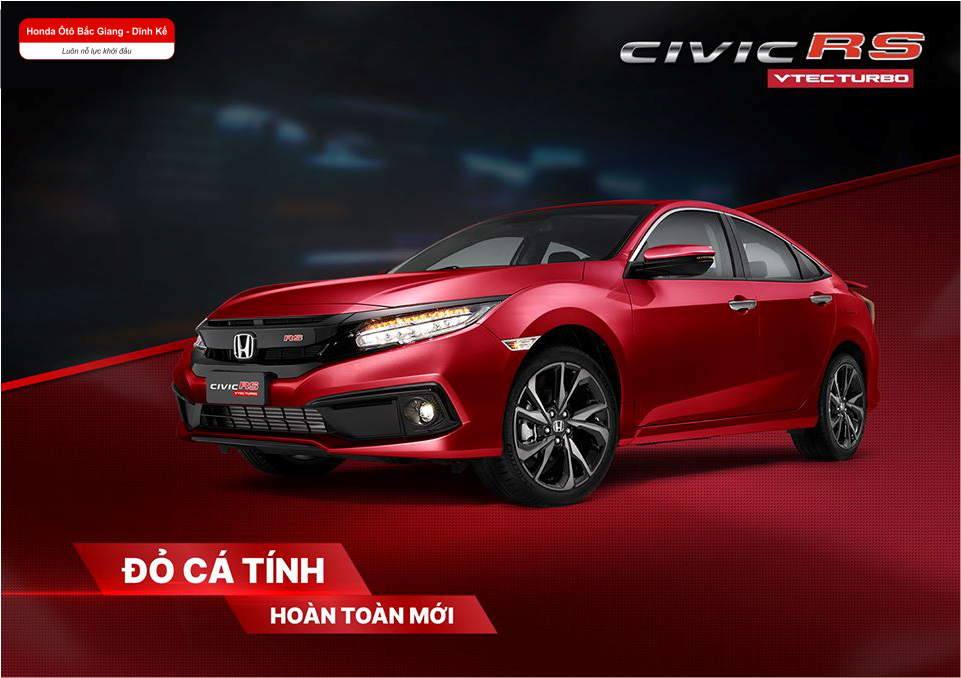 Honda Civic RS bổ sung màu mới - Đỏ cá tính - Đậm chất thể thao